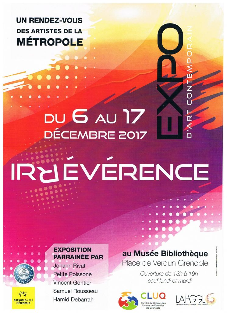 Affiche exposition Irreverence Grenoble 2017 (ancien musée de peinture)