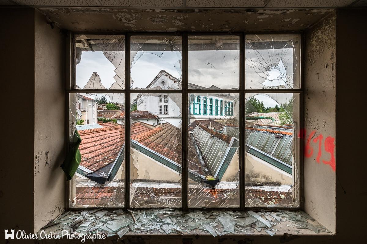 Usine Coton Club - Vue depuis les bâtiments administratifs surplombant l'usine