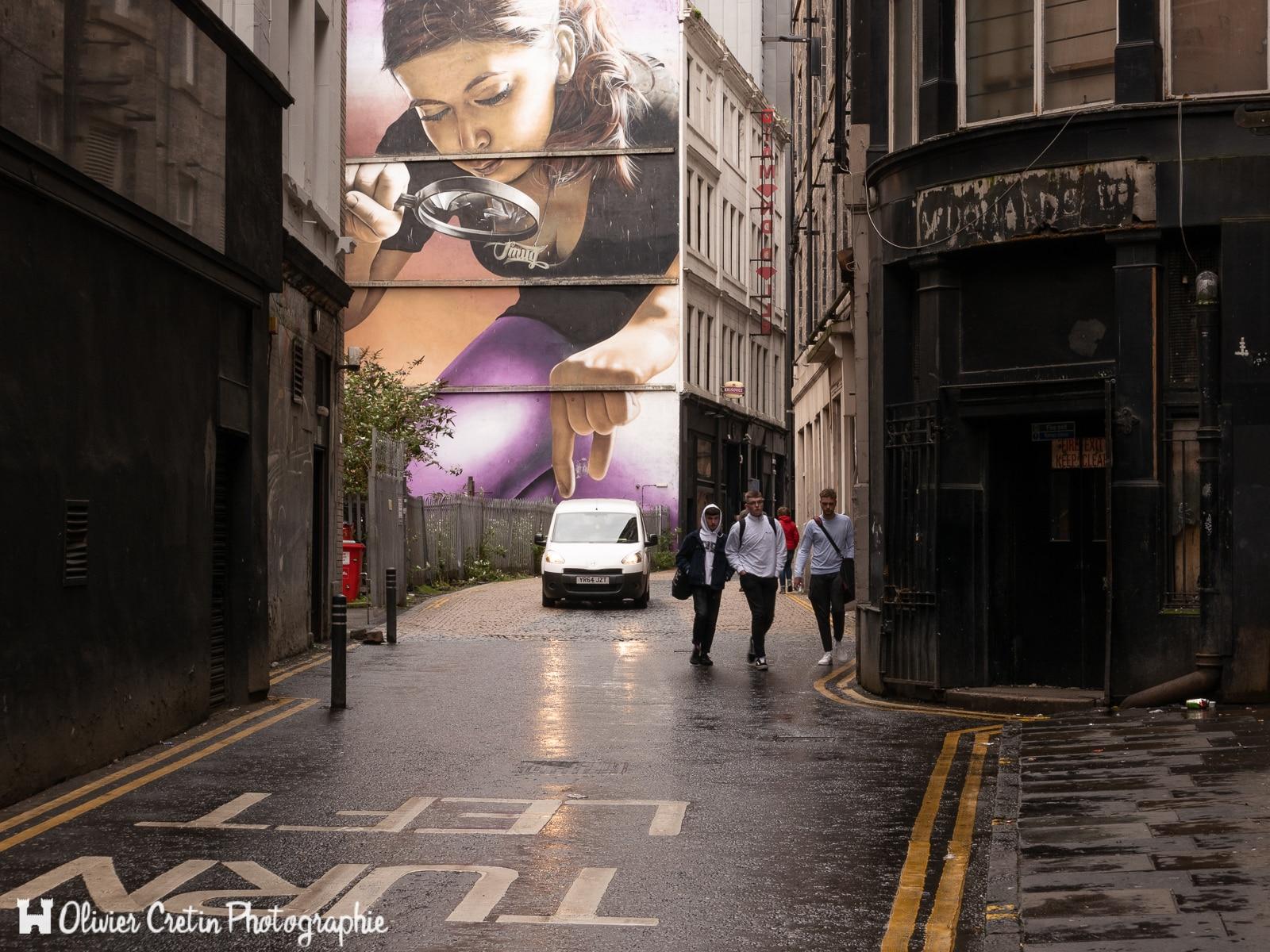 Ecosse - Glasgow - Attention la fourgonnette !