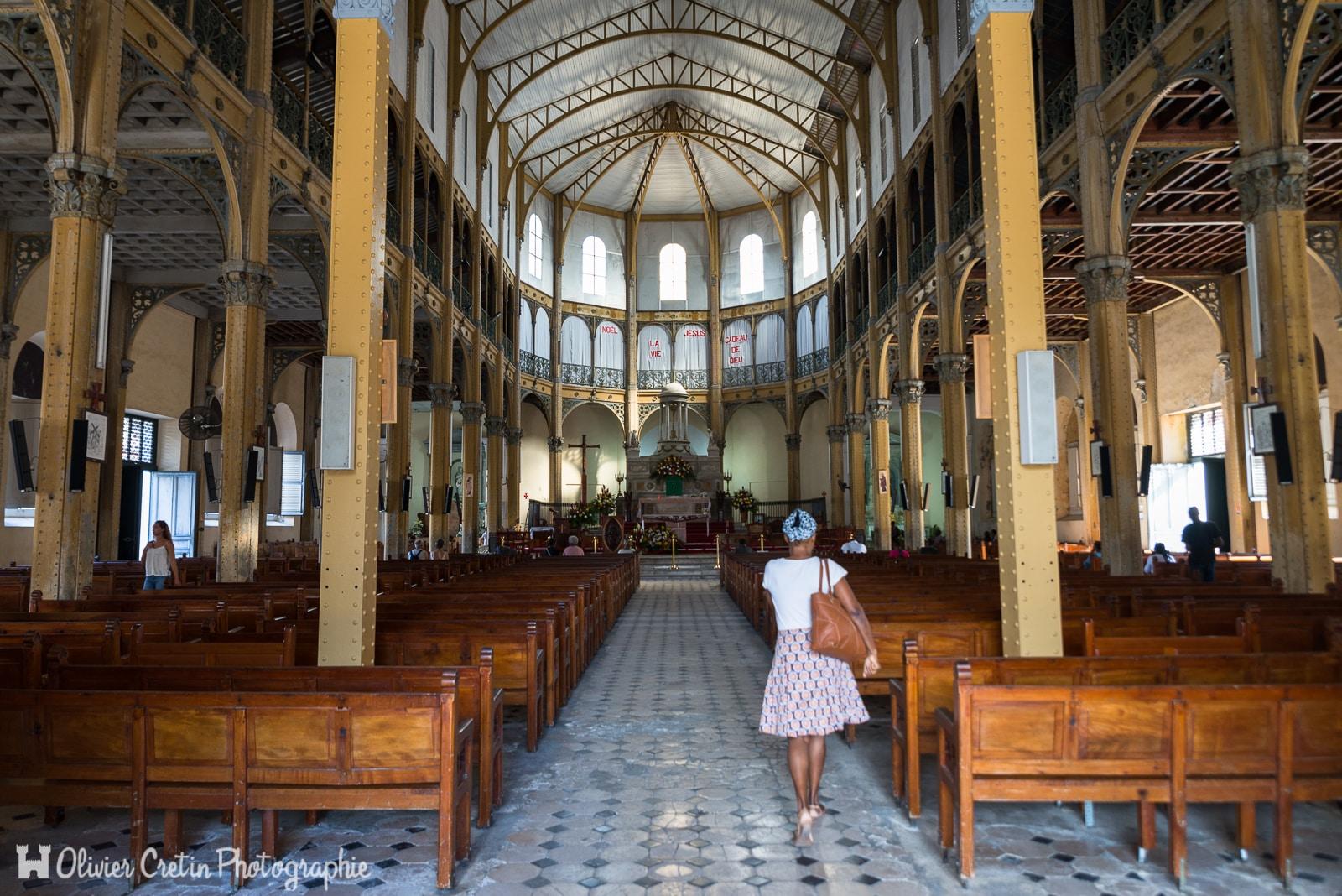 Guadeloupe - La prière du matin à l'église Saint Pierre et Saint Paul de Pointe à Pitre