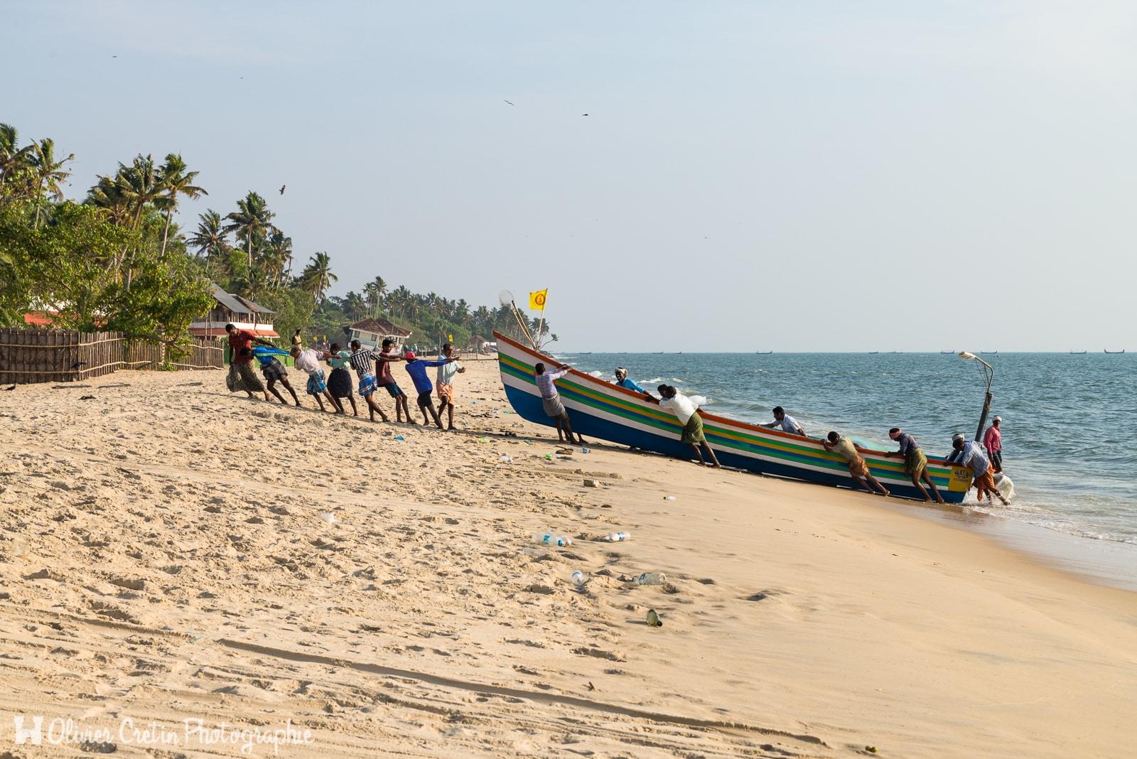 Inde - Le retour de la pêche à Marari beach