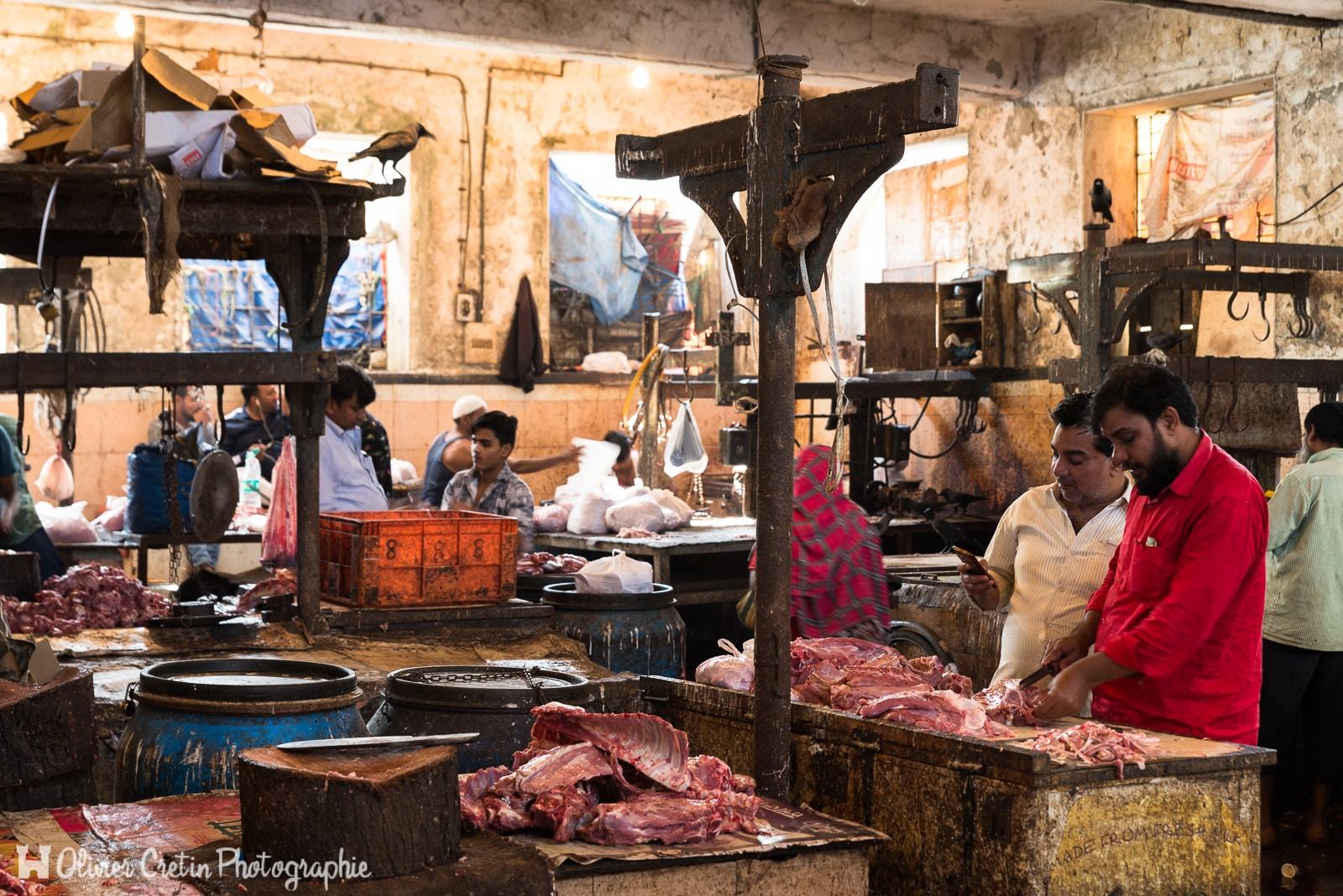 Inde - Mumbai - La fameuse hygiène indienne au Crawford market